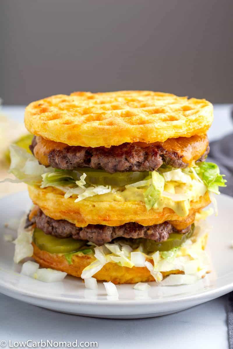 Keto Big Mac Chaffles