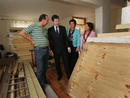 Nick Clegg visits Low Carbon West Oxford