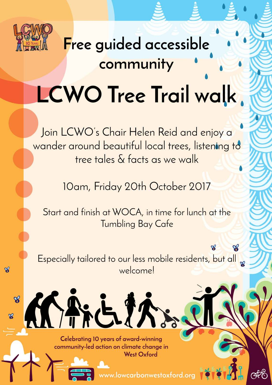 Free guided accessible Tree Trail walk @ West Oxford Community Centre (WOCA)