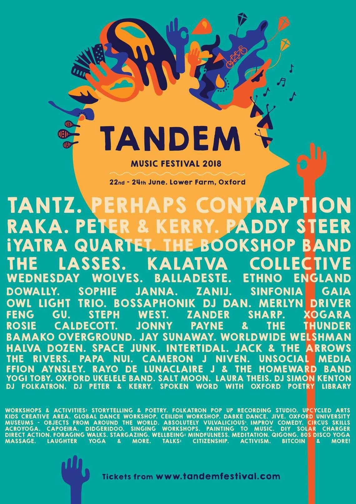 TANDEM FESTIVAL 2018 @ Lower Farm Oxford