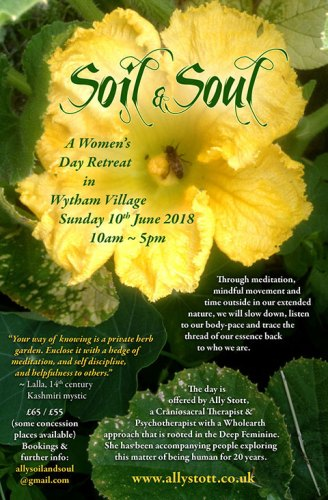 Soil & Soul – A women's day retreat in Wytham village – run by Ally Stott @ Wytham Village