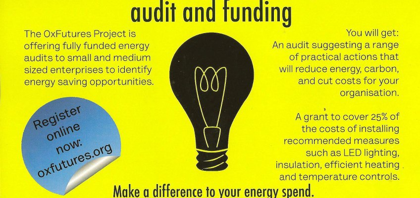 Free energy audit and funding for businesses with less than 50 employees aka SMEs