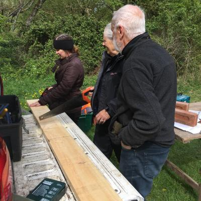 Sawing for bat boxes