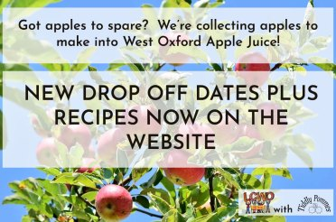 New apple drop off date – plus recipes!