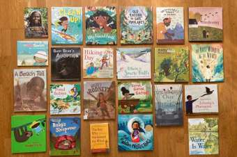 LCWO donates 23 books to the Many Voices Collection