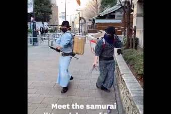 One to show the kids – Samurai Litter Pickers of Japan