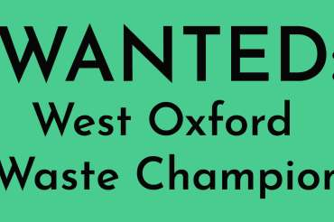 Be a West Oxford Waste Champion and get training and support from Replenish!