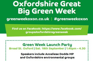 Oxfordshire's Great Big Green Week launches with a impressive programme next weekend – see you on Broad Street?