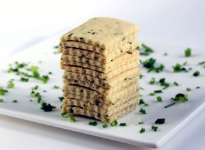 Sour Cream and Chive Crackers, a Pile | Low-Carb, So Simple!