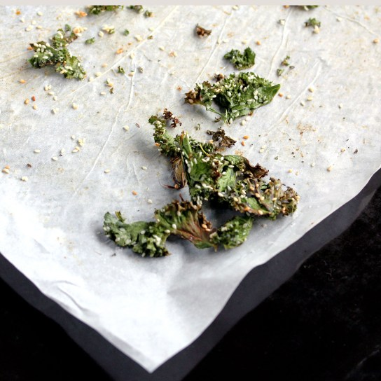 Sesame Mirin Kale Chips, Gee It Was Yummy! | Low-Carb, So Simple!