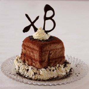 "Sugar-Free Chocolate Paskha with Traditional Letters ""ХВ"" 