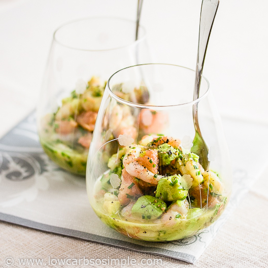 Shrimp, Avocado and Red Grapefruit (Dairy-Free)