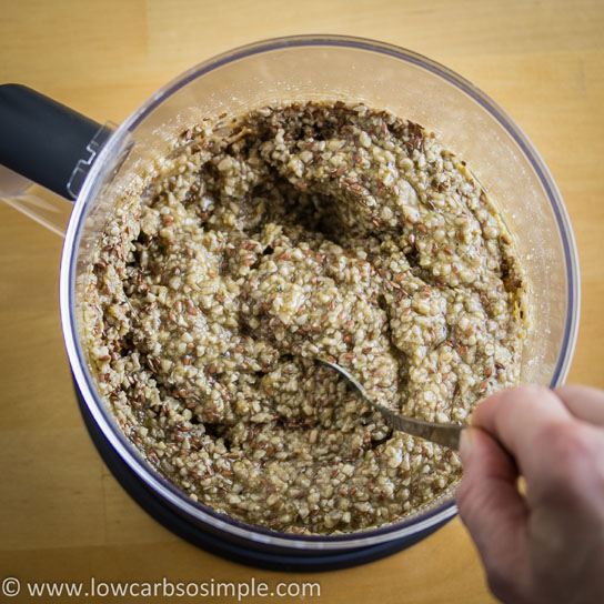 Gluten-Free, Dairy-Free Crisp Bread; Mixing the Batter with Spoon | Low-Carb, So Simple!