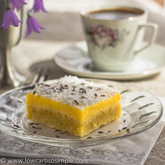 Luscious Low-Carb Lavender Lemon Bars (Dairy-Free)