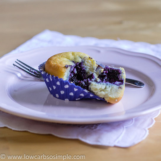 Sugar-Free Blueberry Jam; Blueberry Jam Filled Muffin | Low-Carb, So Simple!