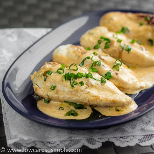 Chicken in Creamy Green Onion Sauce | Low-Carb, So Simple!