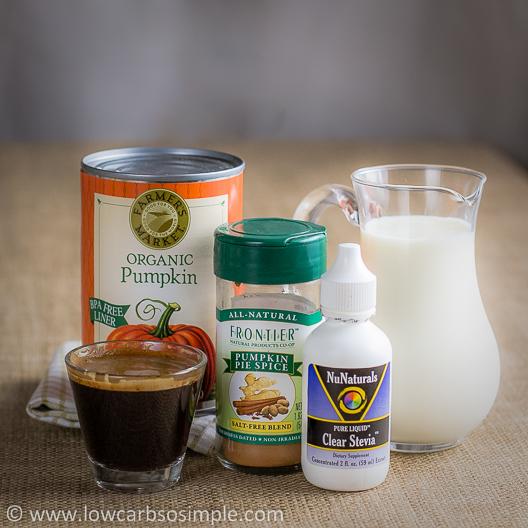 Sugar-Free Pumpkin-Spice Latte; Ingredients | Low-Carb, So Simple!