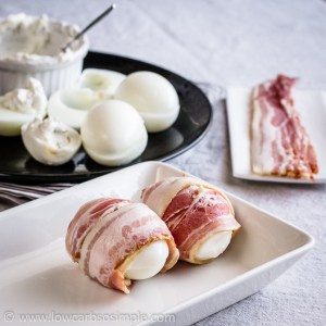 Bacon and Eggs in a Different Way; Filled Eggs Wrapped in Bacon | Low-Carb, So Simple!