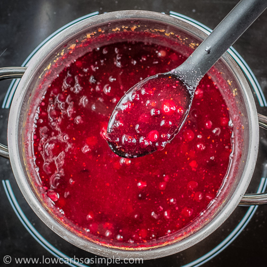 Sugar-Free Cranberry Orange Sauce; The Ready Sauce | Low-Carb, So Simple!