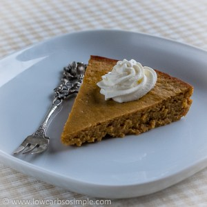 Crustless Low-Carb Pumpkin Pie   Low-Carb, So Simple!