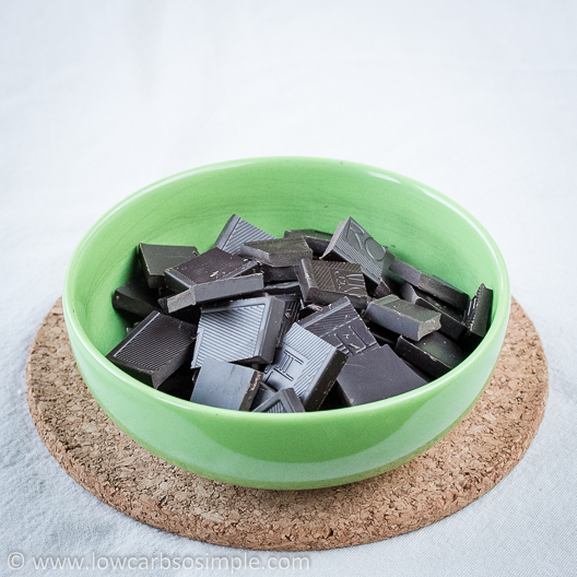 Crunchy Cherry Chocolate Confections; Chopped Chocolate   Low-Carb, So Simple!