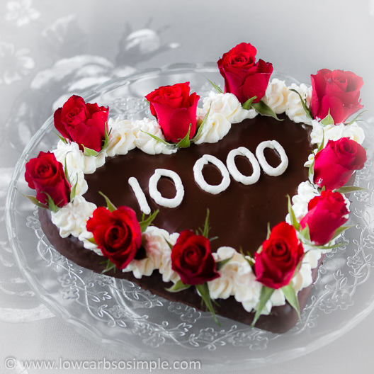 10,000 Facebook Fans Celebration Cake | Low-Carb, So Simple!