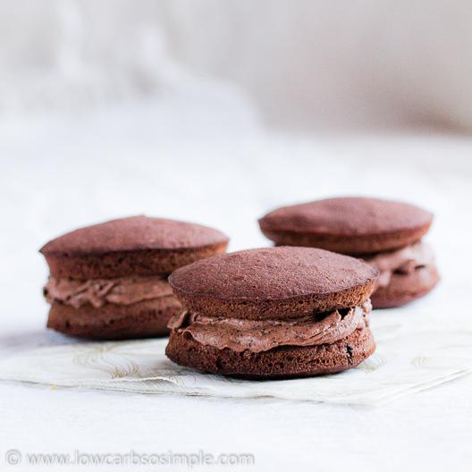 Sugar-Free Chocolate Cheesecake Dip; As Filling in Mocha Whoopie Pies   Low-Carb, So Simple!