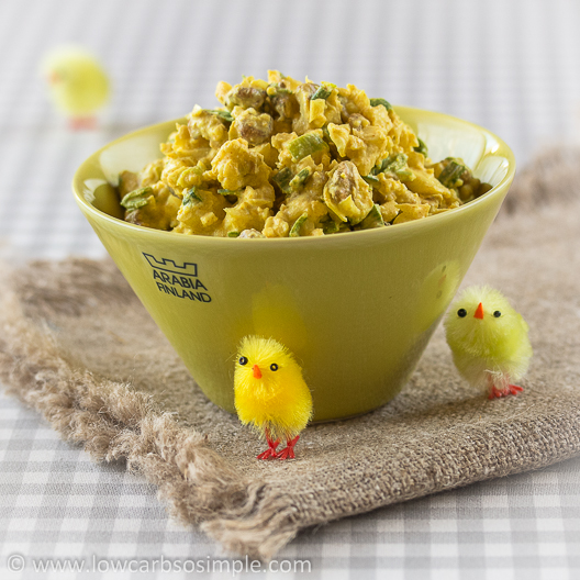 Crunchy Nutty Cauliflower Salad; Colored with Turmeric & Ready for Easter   Low-Carb, So Simple!