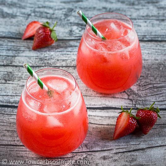 Sugar-Free Strawberry Agua Fresca | Low-Carb, So Simple!