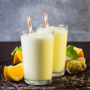 Orange Ginger Lassi | Low-Carb, So Simple!
