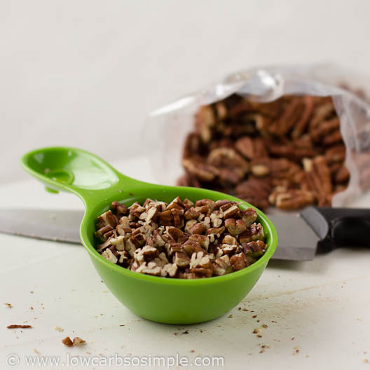 1/2 Cup (120 ml) Chopped Pecans for Toasted Pecan Butter | Low-Carb, So Simple!