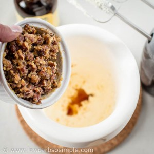 Making Toasted Pecan Butter; Adding the Chilled Butter and Pecan Mixture | Low-Carb, So Simple!