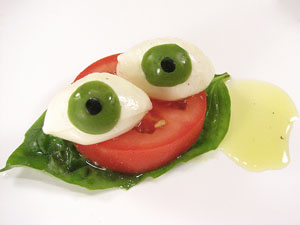 high-cuisine-for-halloween-eyeball-caprese | Evil Mad Scientist