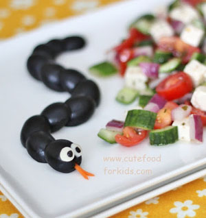 Olive Snake | Cute Food for Kids