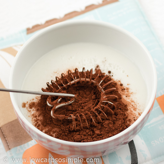 Image of Dairy-Free 4-Ingredient Chocolate Pudding; Whisking | Low-Carb, So Simple