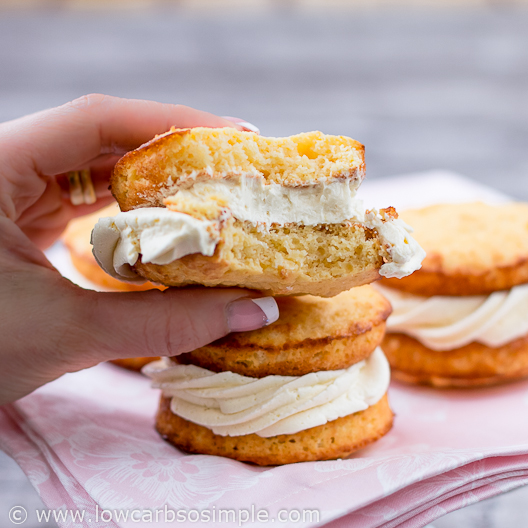Image of Whoopie pies; Lemon cakes with orange filling; This is so good! | Low-Carb, So Simple