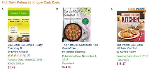 Hot New Releases in Low Carb  Diets on Amazon | Low-Carb, So Simple