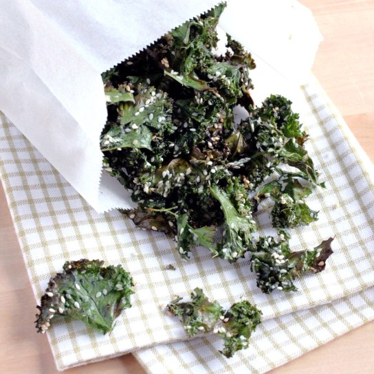 Sesame Mirin Kale Chips | Low_Carb, So Simple