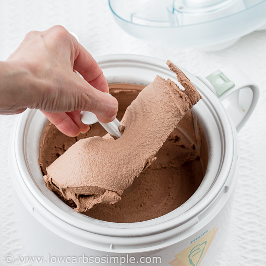 Sinful Chocolate Ice Cream; Ready!| Low-Carb, So Simple