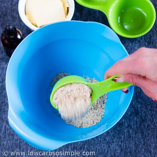 Adding Hazelnut Flour   Hazelnut Cookies