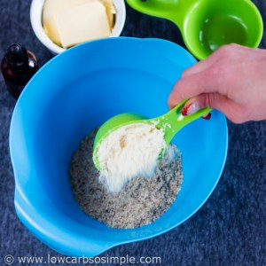 Adding Hazelnut Flour | Low-Carb Hazelnut Butter Cookies
