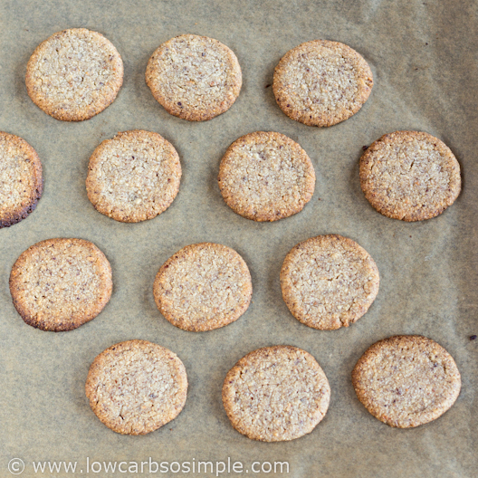 Straight from the Oven   Low-Carb Hazelnut Butter Cookies