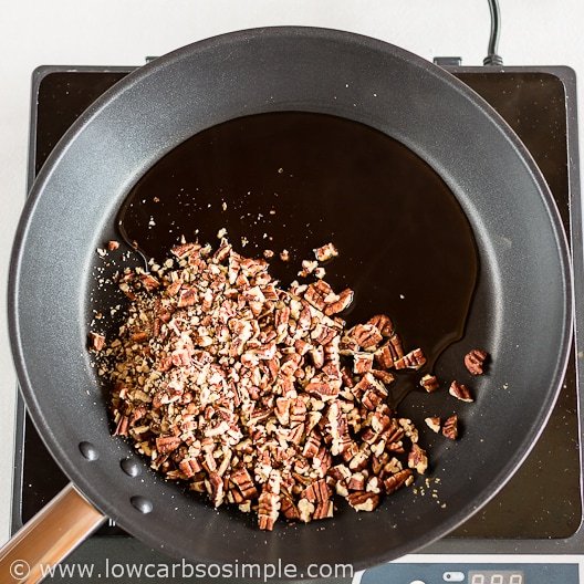 Low-Carb Bacon And Candied Pecan Bark; Adding the Pecans | Low-Carb, So Simple!