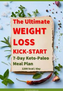 Image of the Cover of The Ultimate WEIGHT LOSS KICK-START 7-Day Keto-Paleo Meal Plan