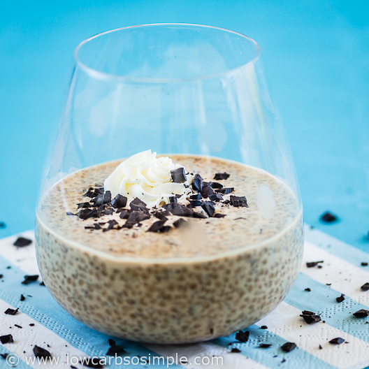 Coffee and Chocolate Chip Chia Pudding; Enjoy!| Low-Carb, So Simple