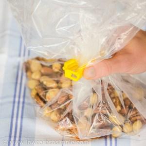 1-Minute 3-Ingredient Keto Snack; Closing the Freezer Bag