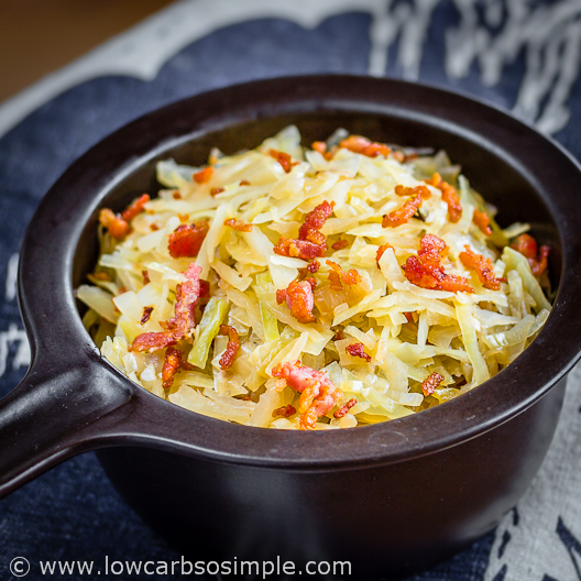 The Best Southern Fried Cabbage Low Carb So Simple