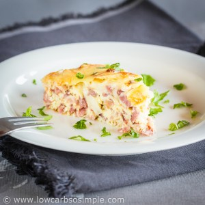 Quick Crustless Paleo Quiche by Tina Turbin | Low-Carb, So Simple