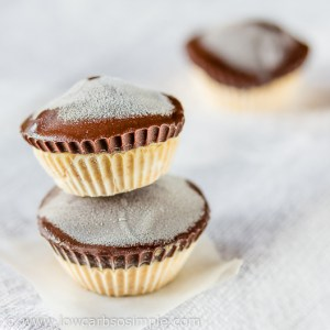 Frozen Peanut Butter Cups; Lazy Lucy Version | Low-Carb, So Simple