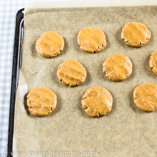 2-Ingredient Peanut Butter Cookies; All Flat   Low-Carb, So Simple